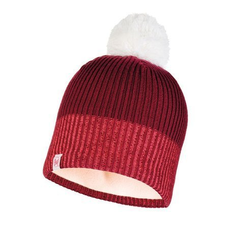Czapka Buff Junior Knitted & Fleece Hat Audny WINE
