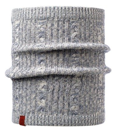 Komin Neckwarmer Buff Knitted Polar Braidy Grey