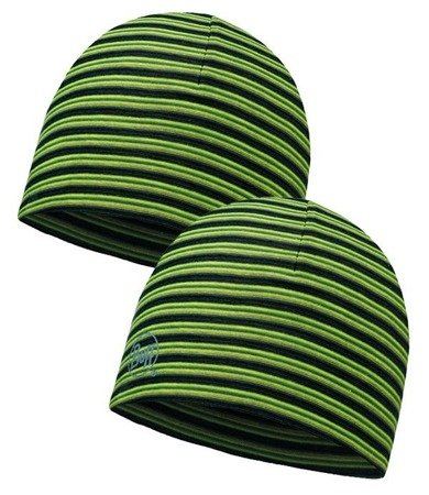Buff Czapka dwustronna z Microfibry YELLOW FLUOR STRIPES