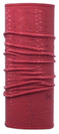 Chusta Buff Merino Wool Lightweight Slim Fit Niah Scarlet Red