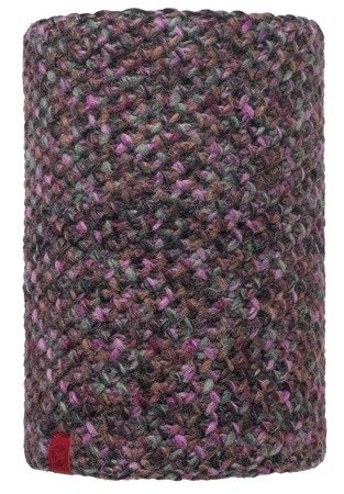 Komin Neckwarmer Buff Knitted Polar Fleece Margo Plum