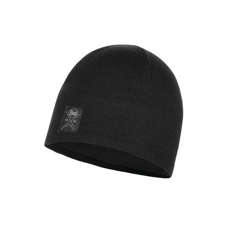 Buff Czapka Zimowa Knitted & Fleece Hat Solid BLACK