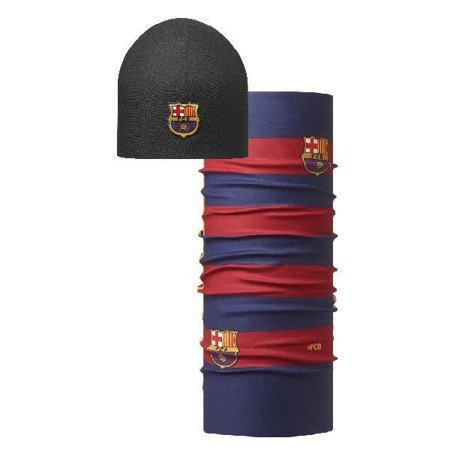 Buff Czapka z Microfibry i Polaru FCB Solid BARCA + Chusta Original Buff 1st EQUIPMENT 15/16