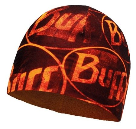 Buff Czapka z Microfibry i Polaru MULTI LOGO ORANGE FLUOR