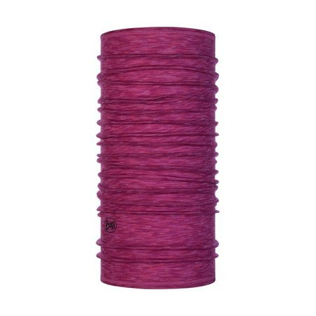 Chusta Buff Merino Wool Lightweight RASPBERRY MULTI STRIPES