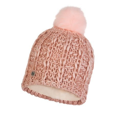 Czapka Buff Knitted & Fleece Hat Liv CORAL PINK