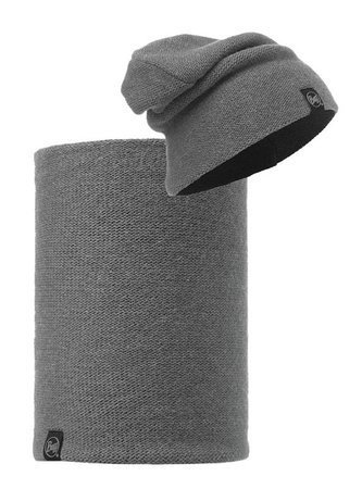 Zestaw: Knitted Buff Czapka Colt Grey Pewter + Komin Knitted Neckwarmer Buff Colt Grey Pewter