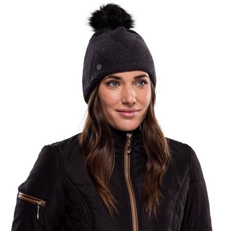 Czapka Zimowa Buff Knitted & Fleece Hat Disa BLACK