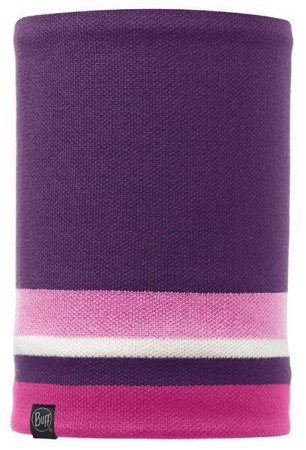 Komin Neckwarmer Buff Knitted Polar Fleece OVEL PLUM