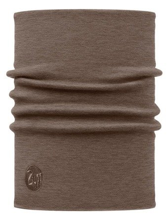 Merino Wool Thermal Neckwarmer Buff SOLID WALNUT BROWN