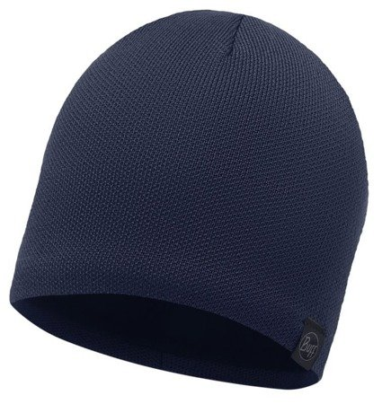Buff Czapka Knitted & Polar Solid Dark Navy
