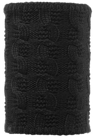 Komin Neckwarmer Buff Knitted Polar Fleece ZOILO Black