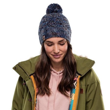 Buff Czapka Zimowa Knitted & Fleece Hat Margo BLUE
