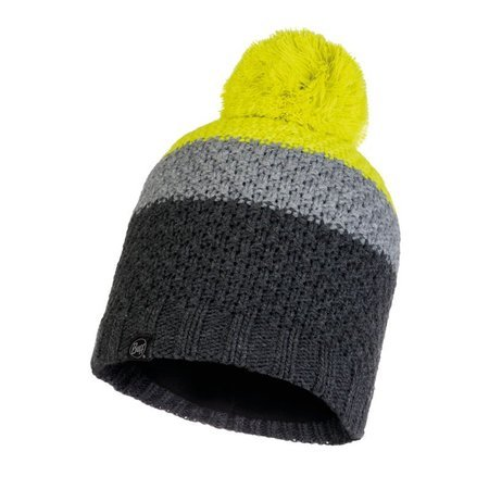Czapka Zimowa Buff Knitted & Fleece Hat Jav GREY