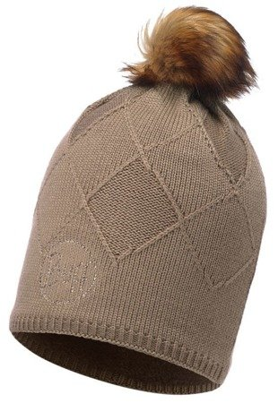 Buff Czapka Knitted & Polar Stella Brown Taupe