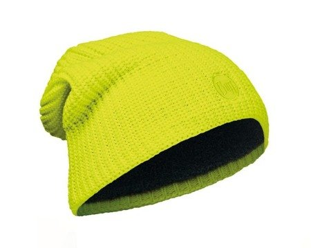 Buff Czapka Knitted & Polar Drip Yellow Fluor