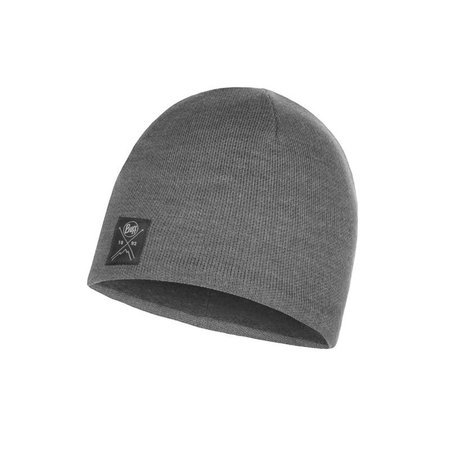 Buff Czapka Zimowa Knitted & Fleece Hat Solid GREY