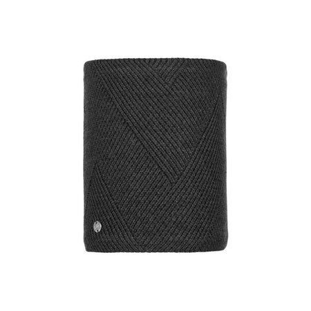 Komin Buff Knitted & Fleece Neckwarmer Disa BLACK
