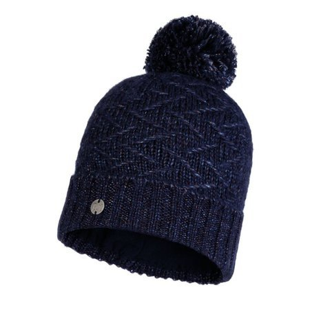 Czapka Zimowa Buff Knitted & Fleece Hat Ebba NIGHT BLUE