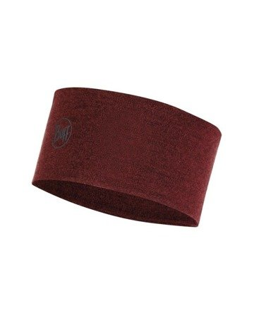 Opaska 2 Layers Midweight Merino Wool Headband Buff WINE MELANGE