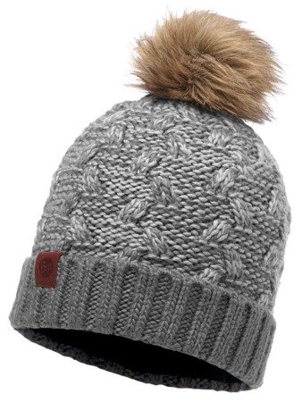 Buff Czapka Knitted Kiam Grey