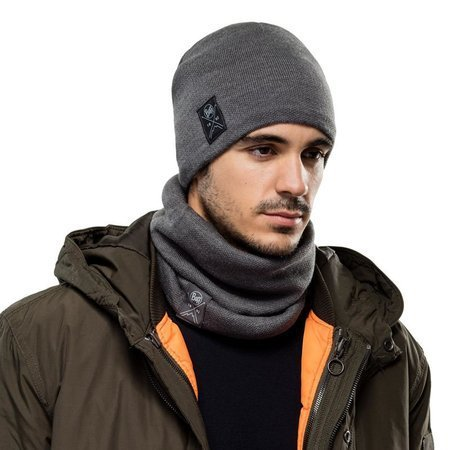 Buff Komin Zimowy Knitted & Fleece Neckwarmer Neo NAVY