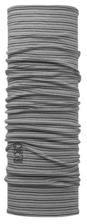 Chusta Merino Wool Buff LIGHT GREY STRIPES
