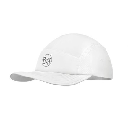 Buff Czapka Do Biegania Run Cap R-SOLID WHITE