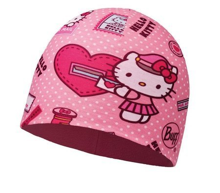 Buff Czapka Junior z Microfibry i Polaru HELLO KITTY MAILING ROSE