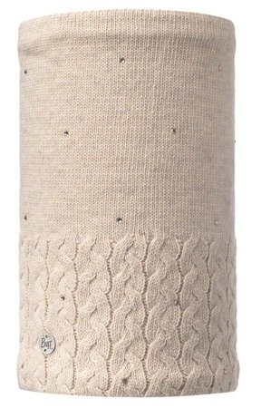 Komin Neckwarmer Buff Knitted & Polar Elie Beige
