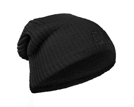 Buff Czapka Knitted & Polar Drip Black
