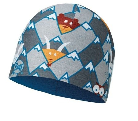 Buff Czapka Junior z Microfibry i Polaru HIDDING GREY
