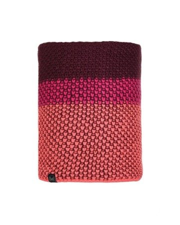 Komin Neckwarmer Buff Knitted Polar Tilda BRIGHT PINK
