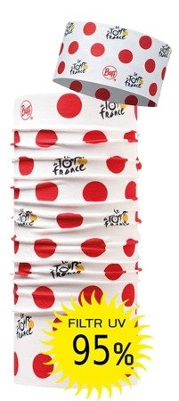 Zestaw: Opaska Tour de france Buff UV Headband NANCY + Chusta Tour de france High UV Protection Buff® NANCY