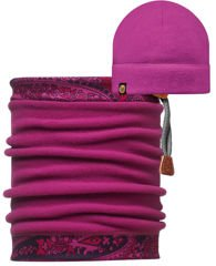 Buff Czapka Polarowa Solid Mardi Grape + Komin Combi Buff® Tamil