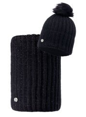 Zestaw Buff Czapka Knitted Polar Glen Black + Komin Neckwarmer Buff Knitted Polar Glen Black